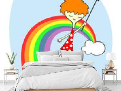 Fairy over the rainbow