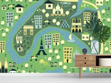 seamless paris background