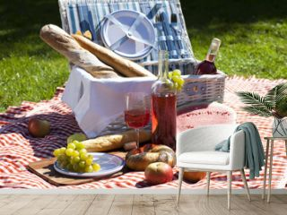 Perfect food in the garden. picnic