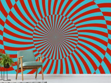 Retro style hypnotic background. vector illustration