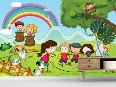 animals and kids