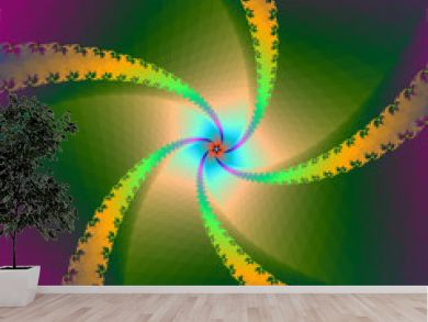Spiral Star in Yellow and Green
