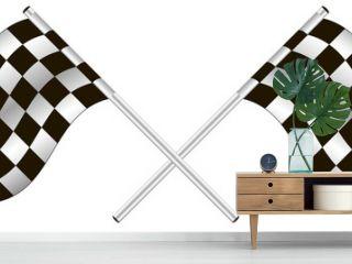 checkered flag. vector