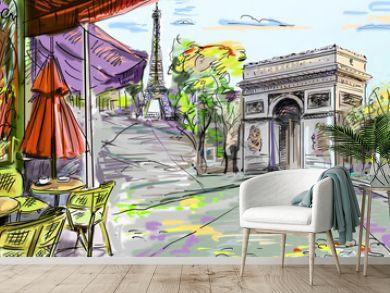 Paris street - illustration