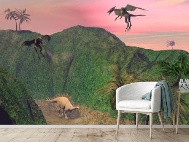 Stegosaurus attacked