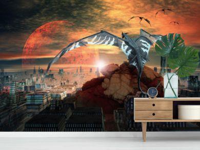 Dragons - Fantasy Scene
