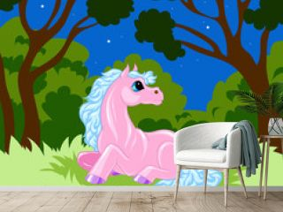 pink cartoon horse