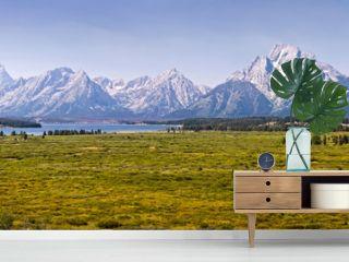 Panorama du parc national de Grand Teton, Wyoming USA