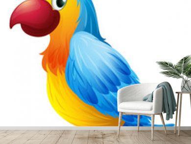 A colorful parrot