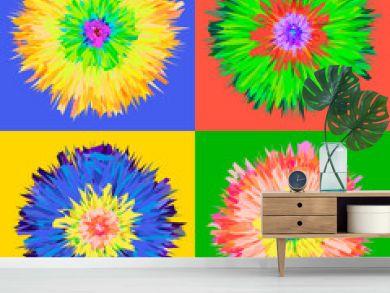 Pop art flower, vector Eps 10 illustration.