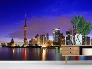 Lujiazui Finance&Trade Zone of Shanghai landmark skyline at dawn