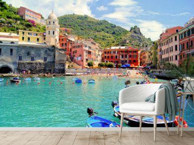 Colorful harbor at Vernazza, Cinque Terre, Italy