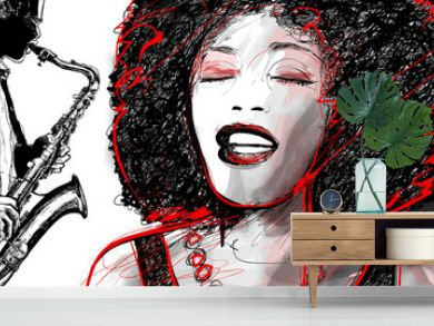 jazz singer and saxophone