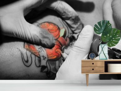 Making of tattoo