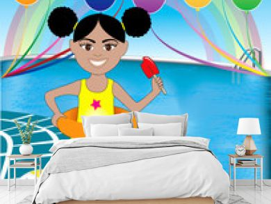Pool Popsicle Girl