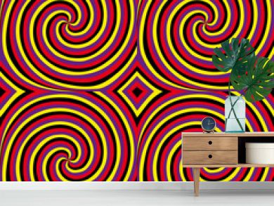 Movement (motion illusion).  Seamless pattern.