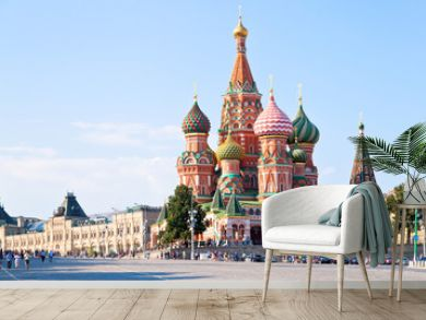 Red Square with Vasilevsky descent in Moscow