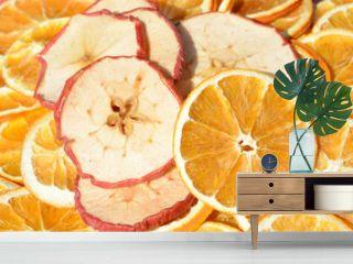 Apfel und Orangenscheiben