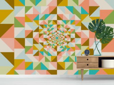 Retro abstract visual effect seamless pattern.