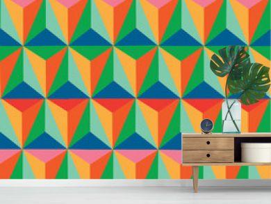 Trendy retro hipster geometric seamless pattern.