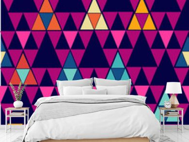 Trendy vintage hipster geometric seamless pattern.