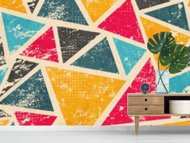 grunge colored triangle seamless pattern