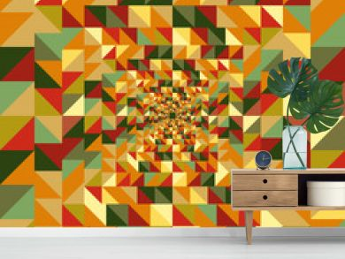 Vintage autumn triangles seamless pattern background. EPS10 file