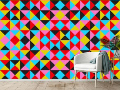 Vector abstract geometric background, colorful