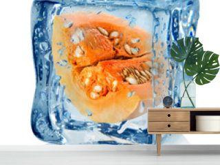 Pumpkin in ice cube