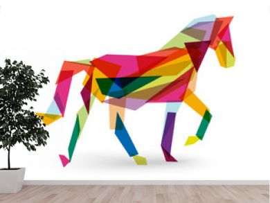 Chinese new year of the Horse abstract triangle EPS10 file.