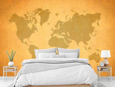 World Map, World background on grunge paper