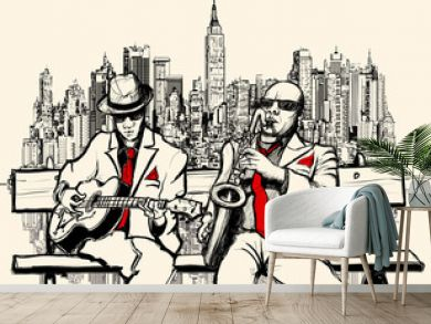 two jazz men playing in New York