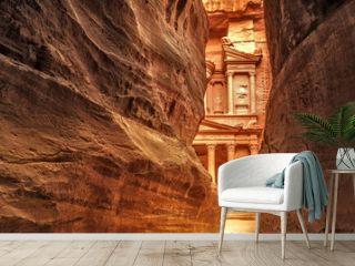 Siq in Ancient City of Petra, Jordan