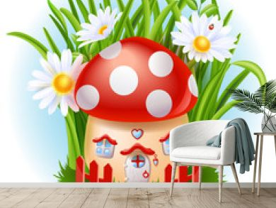 Cartoon fairy tale house