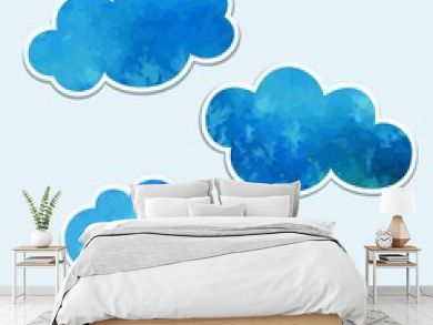 Vector clouds. Design Elements.