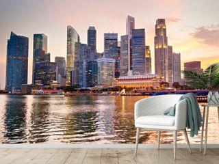 Singapore at sunset