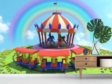 cavalli trenino ed arcobaleno 2