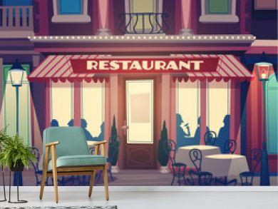 Restaurant retro illustration