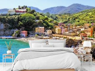 Panoramic coastal view at Monterosso, Cinque Terre, Italy