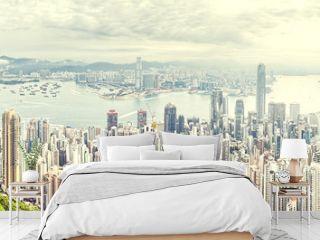 panorama of hong kong ,China
