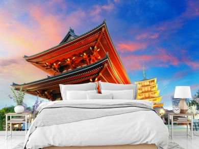 Temple in Asakusa, Japan