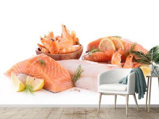 assortment of raw fish