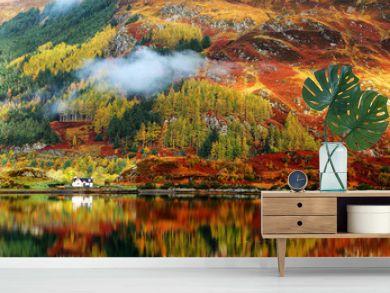 Autumn colours in Highlands, Scotland, Europe