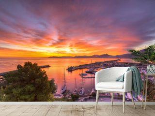 Sunrise at Palermo Harbour