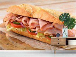 Ham salad sub sandwich