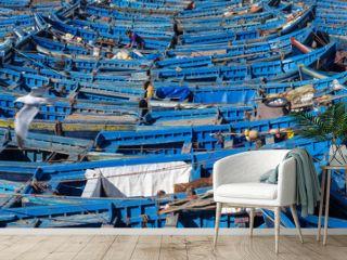 Fishing boats in Essaouira Harbor, Morocco