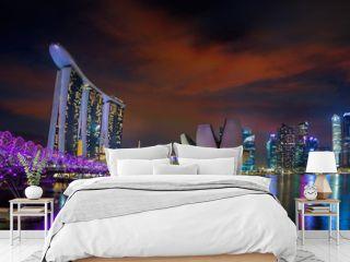 Landscape of Singapore city