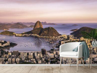 Sunset over Rio de Janeiro ,Brazil