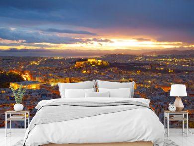 Athens, Greece. After sunset.