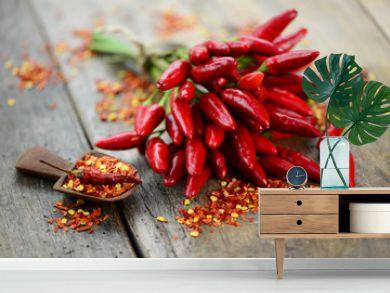 Holzbrett Chili